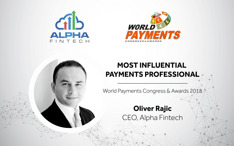 Oliver Rajic Awarded Most Influential Payments Professional