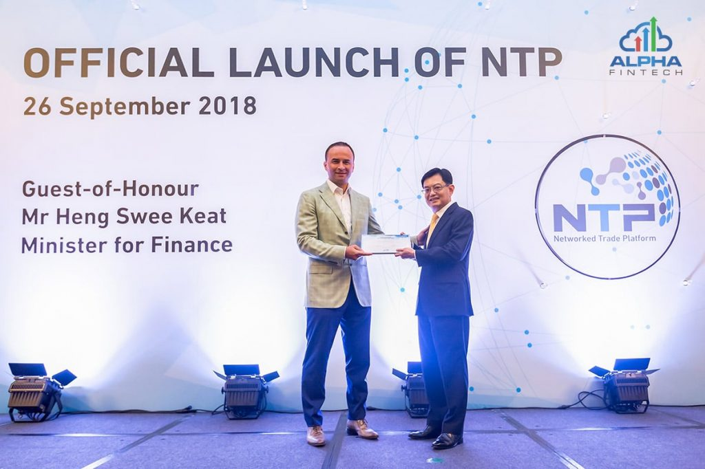 Alpha Fintech Joins Launch of Singapore's Networked Trade Platform